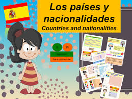 learn about spanish country and nationality lesson exercices