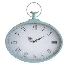 stratton home decor shabby wall clock light blue s01856 at