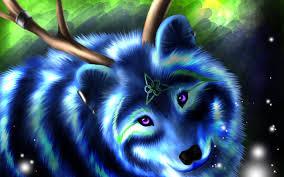 imagenes de fondo de pantalla lobos descargar fondos de pantalla blue wolf arte pintado de lobo el