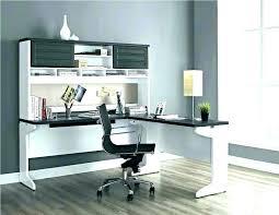 White L Shaped Desk Uk Bush Fairview Collection With Hutch Antique