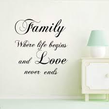 Bedroom Wall Art Words Online Get Cheap Family Sayings Wall Art Aliexpress Com Alibaba