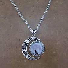 aliexpress moon necklace images Wolf necklace wolf jewelry lonely wolf pendant dark clouds pendant jpg