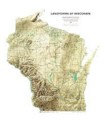 Map Of Wisconsin by Wisconsin Geological U0026 Natural History Survey Landforms Of