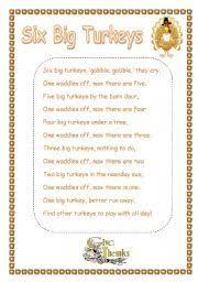 Acrostic Thanksgiving Poem English Worksheets Thanksgiving Poem Worksheets