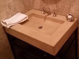 Shallow Bathroom Vanities Concrete Bath Vanity With Shallow Sink