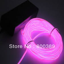 5m flexible strip light transparent el wire tube for car