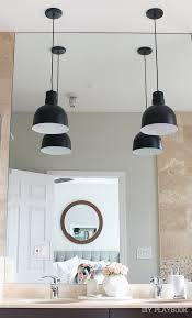 Pendant Bathroom Lights Contemporary Pendant Lights In Our Master Bathroom The Diy Playbook