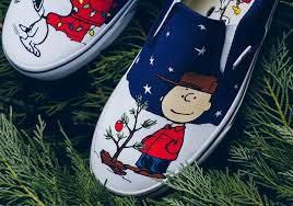 peanuts christmas peanuts and vans collaborate once more for christmas themed