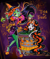 monster high halloween this is halloween casta and skelita make a scene by mi chie on