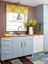 blue gray kitchen cabinets painting kitchen cabinets better homes gardens