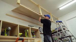 Build Wood Garage Storage by Wasted Space Garage Storage Shelves Jays Custom Creations