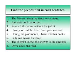 prepositions conjunctions interjections and little things mean a