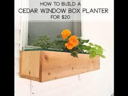 how to build a cedar window box planter for 20 youtube