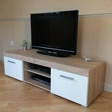 2 Door Tv Cabinet White Sonoma Oak Sydney Large 2 Door Tv Cabinet 140cm Co