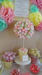 How To Make Ribbon Topiary Centerpieces by Ribbon Topiary In Pink Yellow Orange For Party Shower