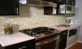 Faux Kitchen Backsplash Before And After Kitchen Makeovers Faux Stone Kitchen Island