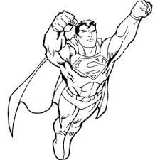 coloring page superman color page the picture of coloring