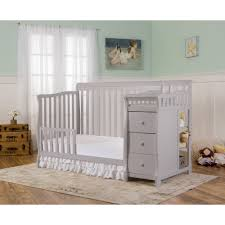 Natural Wood Convertible Crib by Dream On Me Brody 5 In 1 Crib U0026 Changer Combo Pearl Gray Box 1 Of