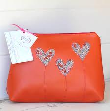 red leather makeup bag mugeek vidalondon