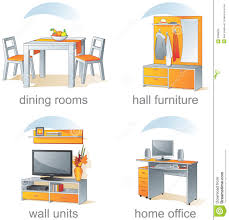 home furniture items icon set home furniture items stock vector illustration of desk