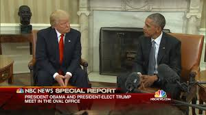 Oval Office Trump by Obama Hosts Trump At White House For First Meeting After Election