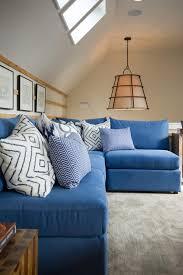 photos hgtv loft with blue sectional sofa loversiq