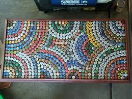 beer cap table top bottle cap table easy cheap diy crafts