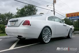 roll royce wraith on rims rolls royce wraith with 24in avant garde agl20 wheels exclusively