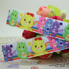7 8 u0027 u0027 free shipping care bears cartoon grosgrain ribbon hair bow