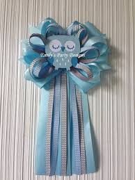 corsage de baby shower baby blue owl to be baby shower corsage owl corsage