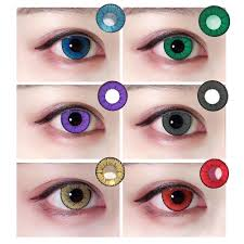 1 pair women coloured lenses crazy color contacts halloween big