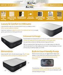 amazon com king koil queen size luxury raised air mattress best