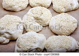 cuisiner des chignons de cuisson sésame cru chignons graines pâte maison image de