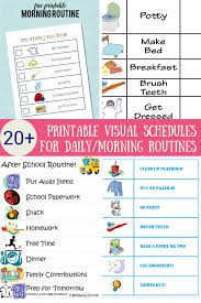 printable evening schedule the ultimate list of printable visual schedules to make your home