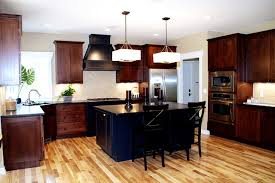 Mixed Wood Kitchen Cabinets Kitchen Contemporary Kitchen Detroit By Green Apple Design