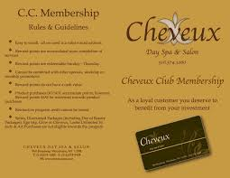 Salon Invitation Card Bewitched At Cheveux Brochure