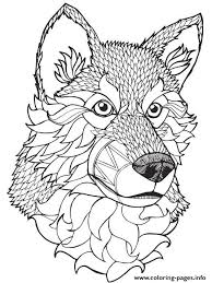 quality wolf mandala coloring pages printable