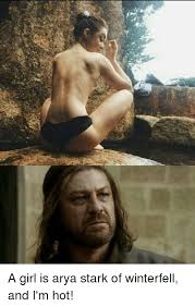 Arya Meme - a girl is arya stark of winterfell and i m hot meme on sizzle