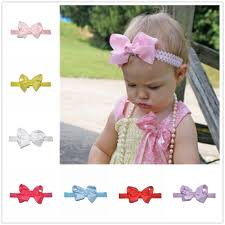 newborn hair bows tinsai july new 1pc fashion newborn hair bows children gir elastic