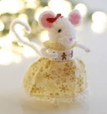 learn how to make adorable mice ornaments