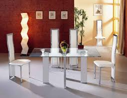 Fantastic Furniture Dining Table Furniture Futuristic White Dining Table Set With Glass Table Top