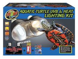 aquatic turtle uvb u0026 heat lighting kit zoo med laboratories inc