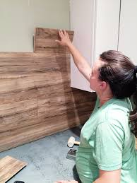 Cutting Laminate Flooring Laminate Flooring Backsplash It Looks Like Wood Bower Power