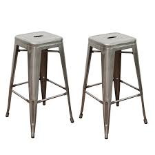 Bar Stool Sets Of 2 Joveco 30 Inches Sheet Metal Frame Tolix Style Bar Stool Set Of