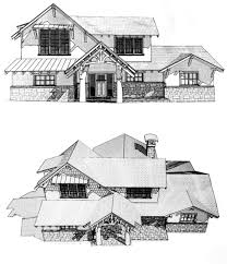 green arts and crafts custom cottage plans by custom home builder