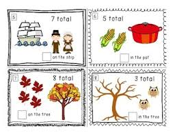 thanksgiving counting on task cards thanksgiving math
