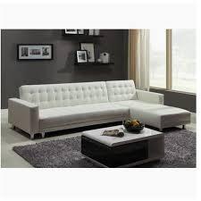 canapé blanc d angle canape d angle pu 5 places blanc convertible lit design et