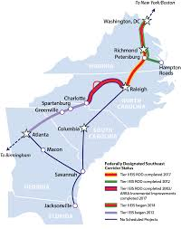 Amtrak Status Map by Southeast Corridor