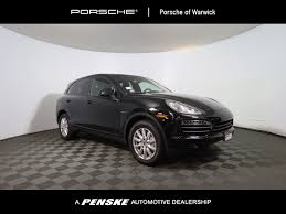 Black Porsche Cayenne - 2013 used porsche cayenne s hybrid at porsche of warwick serving
