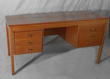 Mid Century Modern Office Desk Teak Antique Desks Secretaries Ebay